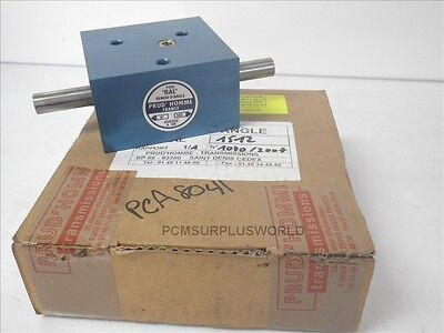 Three-Way right angle gear drives ratio 1/1 Prud'Homme transmissions (New)
