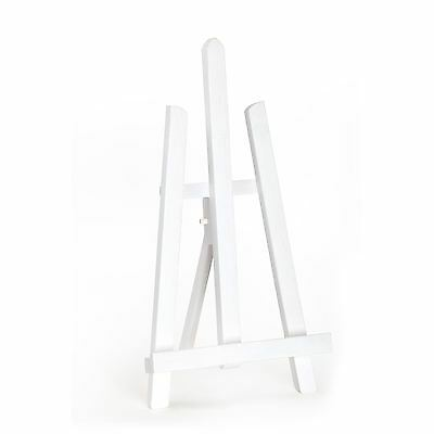 "Quantum Art - White Colour Table Top Display Easel 390mm 16"" A4 - Beech Wood"