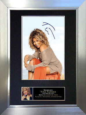 TINA TURNER Signed Autograph Mounted Photo Reproduction A4 Print 245