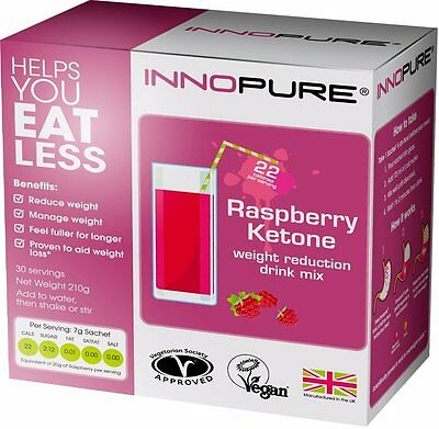 Innopure® Raspberry Ketone Appetite Control Weight Reduction Drink, 30 Sachet