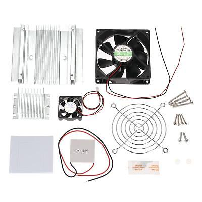 New DIY Thermoelectric Peltier Refrigeration Cooling System Kit Cooler Fan U5U6