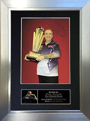 PHIL TAYLOR Darts Signed Autograph Mounted Photo Repro A4 Print no299