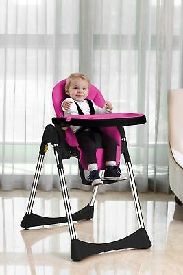 Velu Baby Child Highchair Feeding Chair Compact High Chair PINK