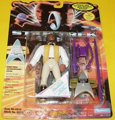 Star Trek Playmates Generations - Lt. Commander Worf in 19th Century Outf. #6931