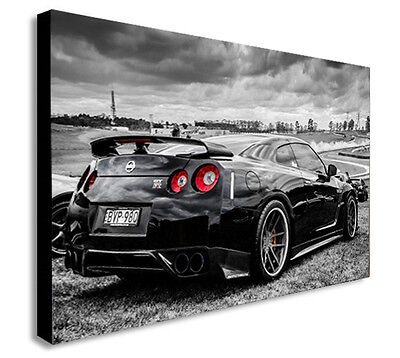 Nissan Skyline GTR Sports Car FAST AND FURIOUS Canvas Wall Art Print.