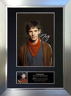 COLIN MORGAN Signed Autograph Mounted Reproduction Photo A4 Print 334