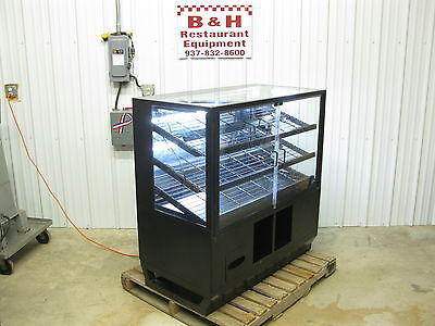 "48"" Self Serve 2 Door Glass Bakery Donut Dry Display Show Case w/ LED Lights 4'"