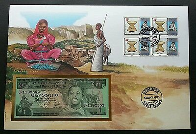 Ethiopia Traditional Craft 1996 Art Handmade Culture FDC (banknote cover) *Rare
