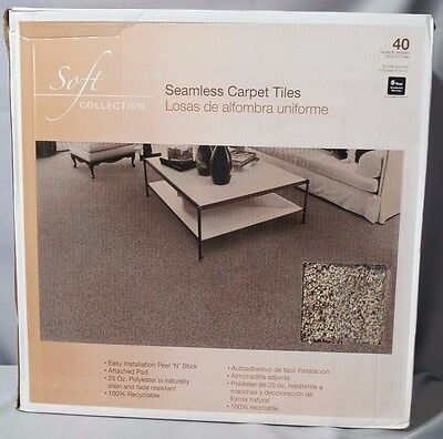 "Seamless Carpet Tiles Tranquility Misty Mountain 24"" X 24"" 40 Sq Ft * New *"