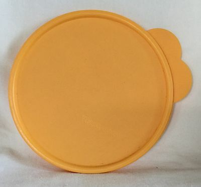 Yellow Orange Tupperware 2541D-2 Round Replacement Seal Cover Lid C Cereal Bowl