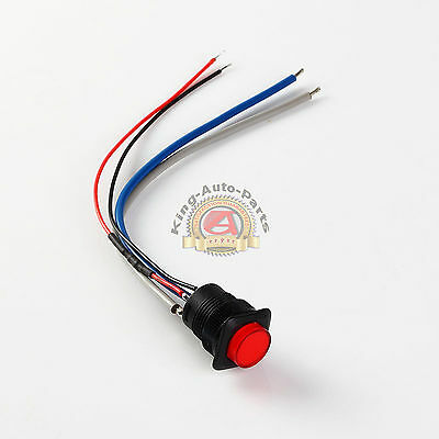 16mm Illuminated Push button - Red Latching On/Off Switch Free Shipping