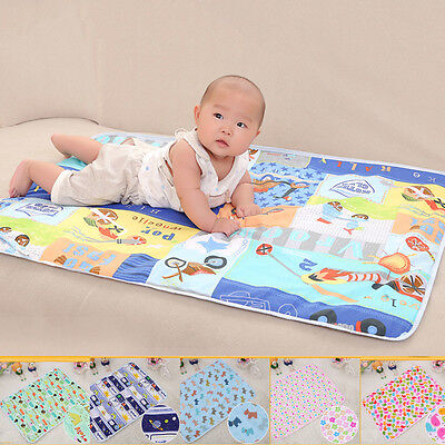 Baby Cartoon Absorbent Cotton EVA Urine Mat Waterproof Changing Pad 50*70cm