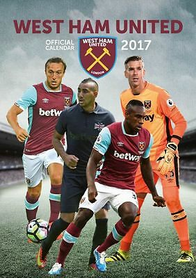 West Ham United Football Club 2017 Official A3 Calendar Calender WHUFC Hammers
