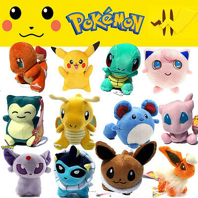 Rare Pokemon Collectible Plush Character Soft Toy Stuffed Animal Doll Teddy Gift