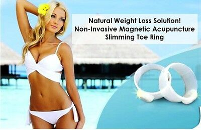 Slimming Magnetic Acupuncture Toe Rings- Natural Weight Loss Aid