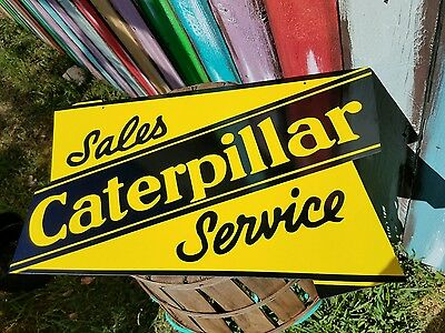 Antique Vintage Old Look Caterpillar Sign