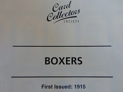*6* Card Collectors Society FULL Reproduction Set  *BOXERS*  1915