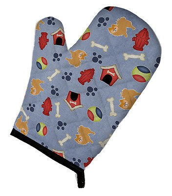 Carolines Treasures  BB4110OVMT Dog House Collection Red Pomeranian Oven Mitt