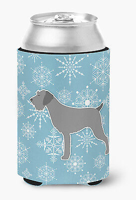 Winter Snowflake German Wirehaired Pointer Can or Bottle Hugger