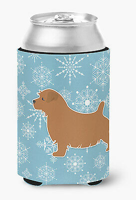 Winter Snowflake Norfolk Terrier Can or Bottle Hugger