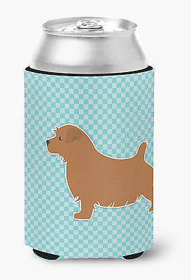Norfolk Terrier  Checkerboard Blue Can or Bottle Hugger