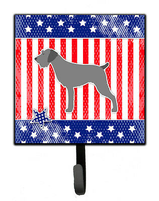 USA Patriotic German Wirehaired Pointer Leash or Key Holder