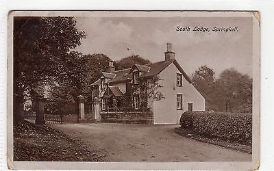 SOUTH LODGE, SPRINGKELL: Dumfriesshire postcard (C5860).
