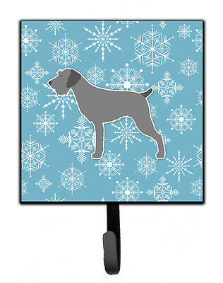 Winter Snowflake German Wirehaired Pointer Leash or Key Holder