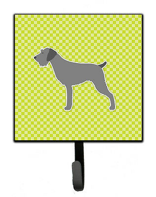 German Wirehaired Pointer Checkerboard Green Leash or Key Holder