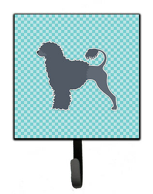 Portuguese Water Dog Checkerboard Blue Leash or Key Holder