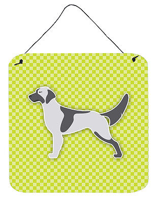 English Setter Checkerboard Green Wall or Door Hanging Prints