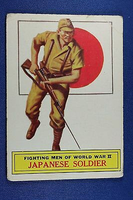 1965 Topps Battle Cards - #58 Japanese Soldier - Good Condition