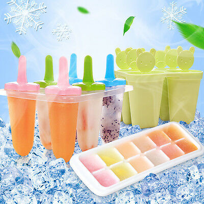 DIY Pop Popsicle Tray Pan Kitchen Frozen /4/6/8 Cell Lolly Mould Ice Cream Maker