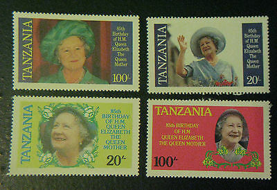 Tanzania Stamps sc#267-70 1985 Mint NH Queen Mother