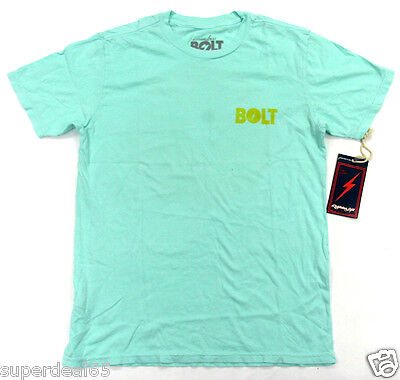 2fa88015d Lightning Bolt T Shirt Shop Stamp Blue Tint 100% Cotton Retro Vintage  Styled USA
