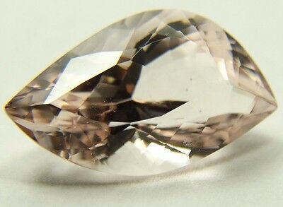 Pink Morganite fancy cut leaf 8.61ct 11x18x9mm Brazil, unusual stone 4350