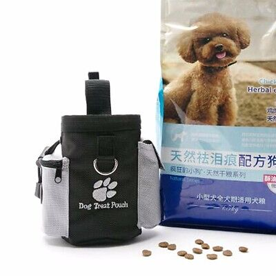 Pet Dog Puppy Obedience Agility Bait Training Treat Food Waterproof Pouch Bag