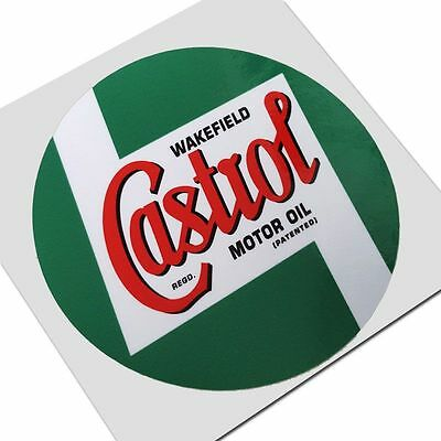 CASTROL WAKEFIELD RETRO oil motorcycle decals custom graphics stickers x 2 pcs