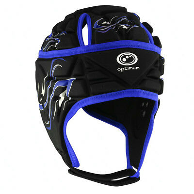 Optimum Inferno Rugby Headguard Scrumcap Black / Blue