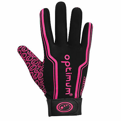 Optimum Velocity Thermal Full Stik Mitt Rugby Hockey Glove Black/Pink