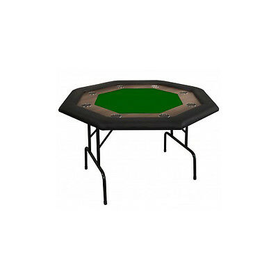 Octagonal Supreme Poker Table With Racetrack 8 Players - Green