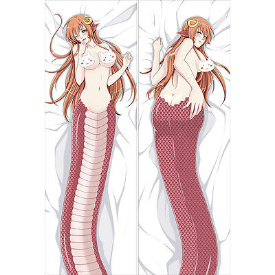 Monster Musume Miia Anime Dakimakura 3D butt & 3D Breast Pillowcase Cover