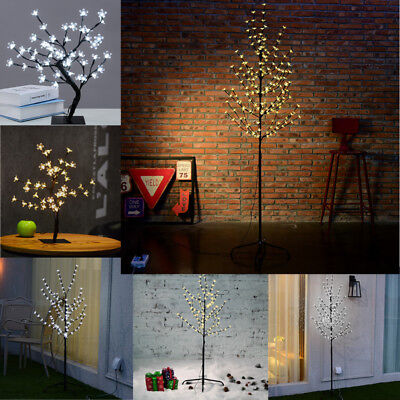 1.5 /4 /5FT LED Cherry Blossom Tree Light Home Office Decor Lamp Xmas Party Gift