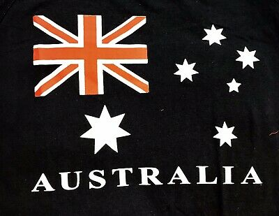 "Adults & Teenager  AUSTRALIA  "" ABORIGINAL FLAG "" T-shirt All Sizes Available"