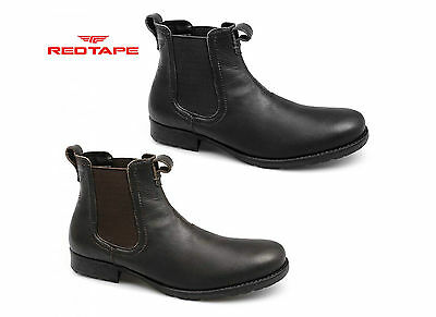 Red Tape REDLAKE Mens Distressed Leather Casual Ankle Dealer Comfy Chelsea Boots