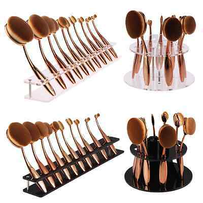 Pro 10PCS Makeup Brushes Set Foundation Oval Toothbrush Shaped Power Brush Tool