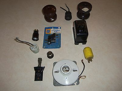 Large Lot of Used Early Electrical Items