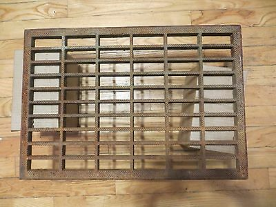 Large vintage Cast Iron Floor Grille, Grate