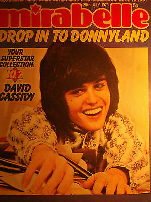 1 english cover clipping DONNY OSMOND N. SHIRTLESS OSMONDS 1973 SINGER BOYS BOY