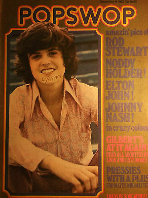 1 english cover clipping DONNY OSMOND N. SHIRTLESS OSMONDS 1972 SINGER BOYS BOY